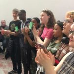 Some of our wonderful audience plus members of Youthsayers band